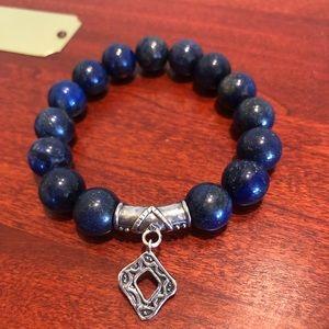 Silpada Confection Blue Lapis Stretch Bracelet 925